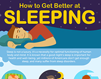 How to Get Better at Sleeping Infographic