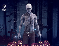 Halloween Party - Free PSD Flyer / Poster Template
