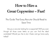 How to Hire a Great Copywriter - Fast!