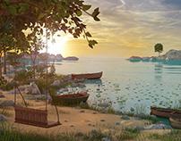 Swing Beach Environment 3d