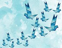 Origamis ao Vento