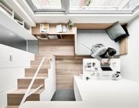 A Little Design | 17.6-square-metre flat