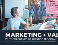 Friends of Prestige Program- Presentation Design