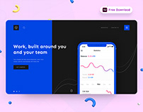 Cube Analytic Service Provider Landing Page - (Freebie)