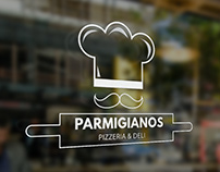 PARMIGIANOS | PIZZERIA & DELI | Logo