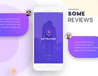 Daytracker - app landing page
