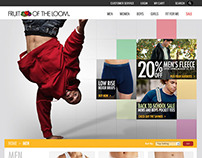 Fruit of the Loom Web Design
