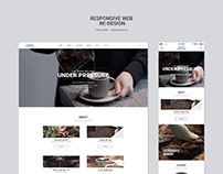 Responsive Web Page Re-design