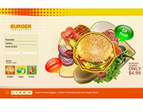 Restaurant horizontal website concept