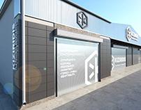 Aluminium supply company in Pireus | Facade renovation