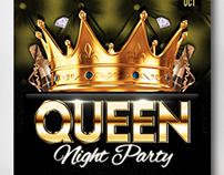Queen Night Party Flyer