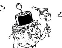 Mr.Food, napkindesign for LowLands festival 2017
