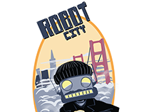 Robot City Brewing Company Beer Label and cap design