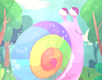 D&D Scene - Rainbow Snail