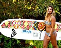 Estampa colaborativa - prancha da surfista Chloé Calmon