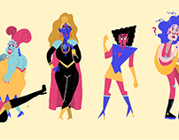 Drag Queen Character Designs