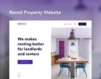 Rental landing page