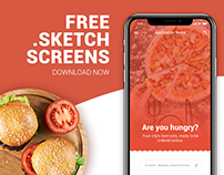 FREE .sketch file | Online Food Ordering App