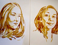 Coffee paint Stéphany/ Bianca