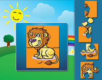 puzzle cartoon Game for kids mockup