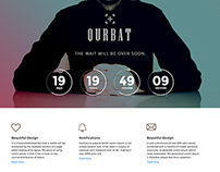 Coming Soon PSD Template [Free Download] – Qurbat