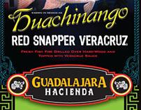 Guadalajara Hacienda menu