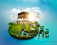 Creative Eid Artwork - Hajji Festival