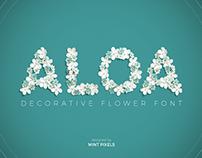 Aloa - Flower Font