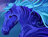 Art Nouveau Fantasy Horse