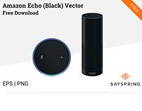 Amazon Echo Vector (Black) Free Download