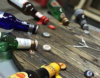 Beer Bottle Wall Clock
