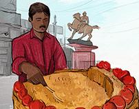 Kolkata Street Food illustration