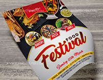 Food Festival – Free PSD Flyer Template+Facebook Cover