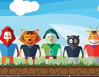 Zoo Animals Characters