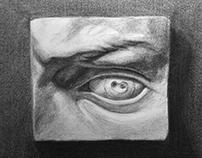 David Eye Study, Charcoal