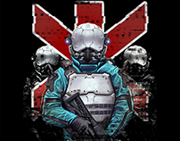 Cyberpunk 2077 Trauma Team Platinum T-shirt