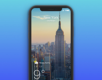 Weather app concept for iPhone X