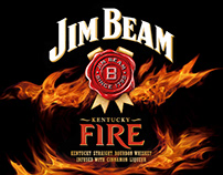 Jim Beam Bourbon Whiskey Labels