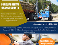 Forklift Rental Orange County||westcoastequipment.us||1