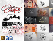 Christmas Greetings Logo & Badges V-1