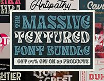 The Massive Textured Font Bundle - $450 Off!