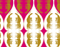 "Surface Pattern Design ""Lucky Shrimp"""