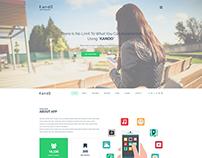 KANDO | Mobile App Landing PSD Theme