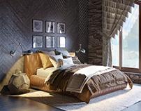 Двухэтажный жилой дом с мансардой в стиле шале