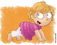 Affiche - Bébé yoga