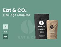EAT & CO. – Free Minimal Coffee Shop Logo Template