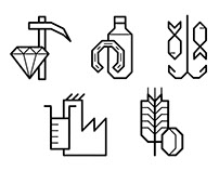 Pictogramas S. Económicos | Icons for economic sectors