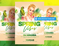Spring Flyer Template - Photoshop PSD