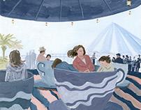 『道ばたさん』挿絵 Illustrations for novel