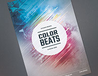 Color Beats Flyer Template